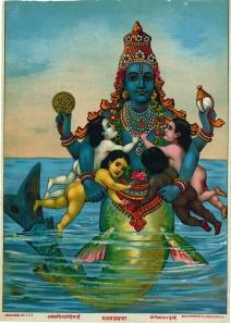 Matsya Vishnu Ravi Varma Press